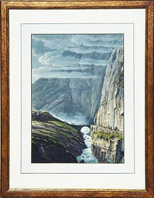 Le Pont du Diable au St. Gotthard.: HEGI, F. d?après