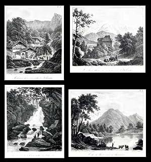 Ensemble de 5 lithographies d?après Louis Bacler: BACLER D?ALBE, Louis
