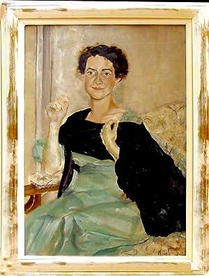 Portrait de Mme. Dr. Marguerite Waznieswski (d?origine: KARLI, (pseud. Kalitowicz,