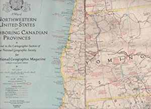 NATIONAL GEOGRAPHIC MAP OF THE NORTHWESTERN UNITED STATES AND NEIGHBORING CANADIAN PROVINCES PREP...