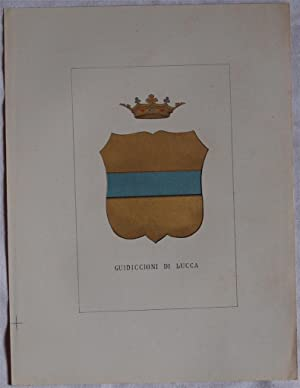 STORIA DELLE FAMIGLIE ILLUSTRI ITALIANE - GUIDICCIONI DI LUCCA,