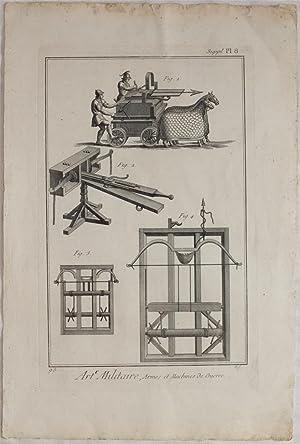 ART MILITAIRE ARMES ET MACHINES DE GUERRE,: Diderot D'Alembert