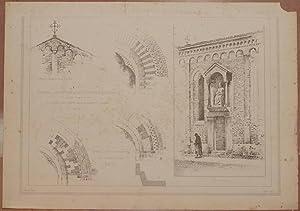 CHIESA DI S. PIETRO IN ARCHIVOLTO (VERONA) STUDIO DAL VERO DI A. SALVETTI ARCH.,