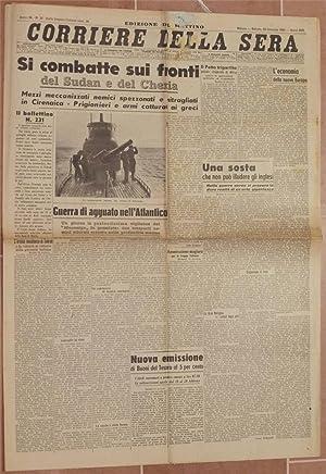 CORRIERE DELLA SERA MILANO, SABATO 25 GENNAIO 1941 - ANNO XIX,