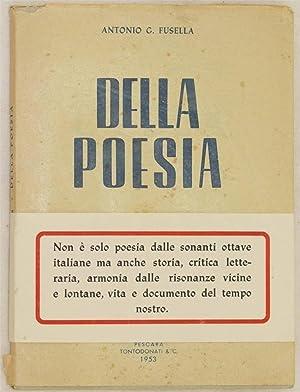 DELLA POESIA STANZE,: ANTONIO G. FUSELLA