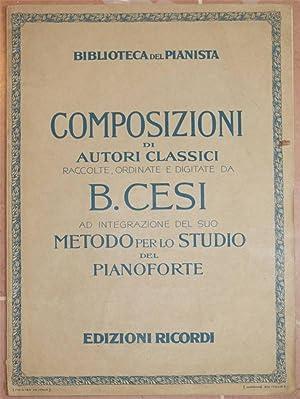 METODO PER LO STUDIO DEL PIANOFORTE,: BENIAMINO CESI