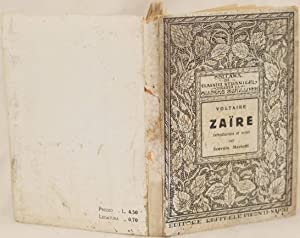 ZAIRE INTRODUCTION ET NOTES PAR SCEVOLA MARIOTTI,