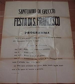 SANTUARIO DI GRECCIO FESTA DI S. FRANCESCO,
