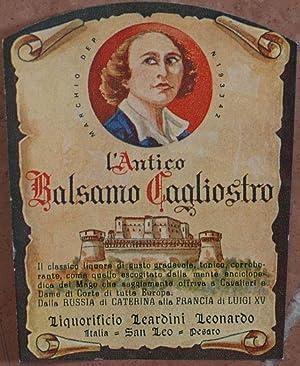 L'ANTICO BALSAMO CAGLIOSTRO LIQUORIFICIO LEARDINI LEONARDO ITALIA