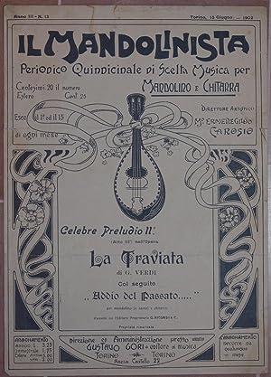 IL MANDOLINISTA PERIODICO QUINDICINALE DI SCELTA MUSICA PER MANDOLINO E CHITARRA CELEBRE PRELUDIO ...