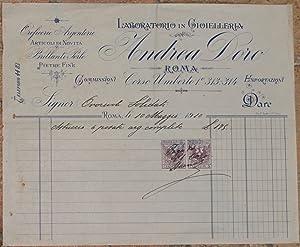 LABORATORIO IN GIOIELLERIA ANDREA DORO ROMA 10