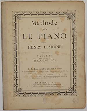 METHODE POUR LE PIANO,