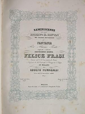 RACCOLTA DI 11 SPARTITI DI PIANOFORTE,: Giuseppe Verdi (1813-1901), Vincenzo Bellini (1801-1835), ...