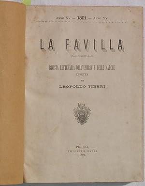 LA FAVILLA RIVISTA DI LETTERATURA E DI EDUCAZIONE DIRETTA DA LEOPOLDO TIBERI,