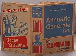 TOURING CLUB ITALIANO ANNUARIO GENERALE 1951,