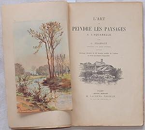 L'ART DE PEINDRE LES PAYSAGES A L'AQUARELLE,: G. FRAIPONT