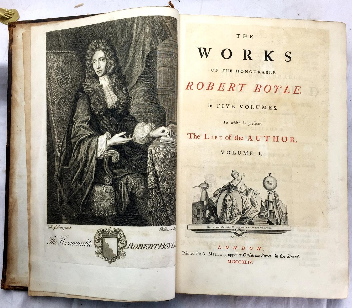 the life and works of robert boyle Robert boyle's natural theology by harold fisch i more, life and works of the hon robert boyle (oxford univ press, i944) ch xi, passim.