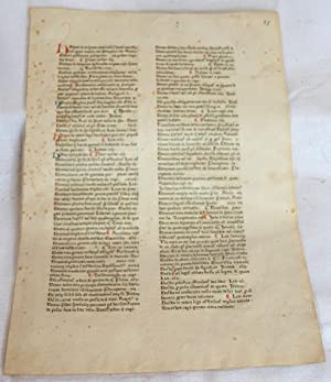 Incunable Leaf From the Strassburg: R-press Type 2 (Johannes Mentelin & Adolf Rusch)