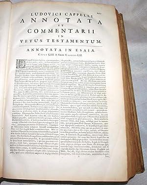 Commentarii et notae criticae in Vetus Testamentum : Jacobi Cappelli, Lud. Frat. in Academia ...