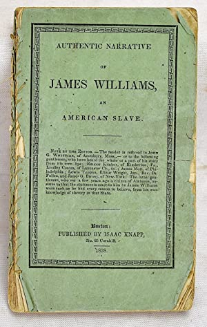 Narrative of James Williams, an American slave, who was for several years a driver on a cotton pl...