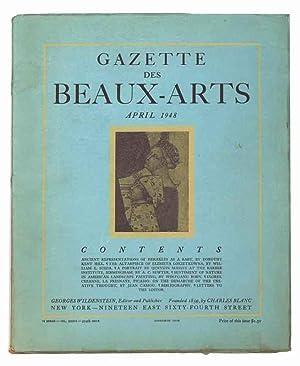 Gazette Des Beaux-Arts, April 1948: Year 90,: Editor-Georges Wildenstein