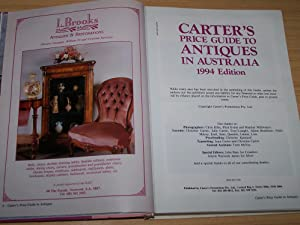 Carter's Price Guide To Antiques In Australia 1994: Carter, Alan