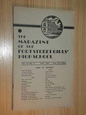 The Magazine Of The Fort Street Girls' High School May, 1933: Cohen Miss (Principal)