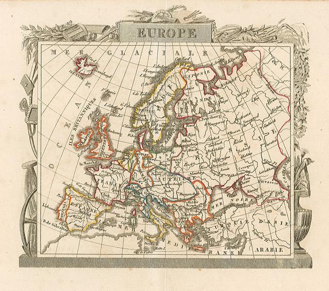 Cartina Europa 1700.Europe