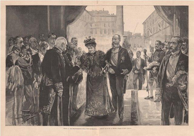 Roma - All'Inaugurazione della XIX Legislatura - Arrivo di S. M. la Regina Paolocci Dante dis.