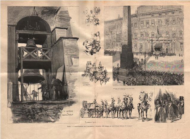 Roma - L'inaugurazione del Parlamento, 3 dicembre 1894 Paolocci Dante dis.