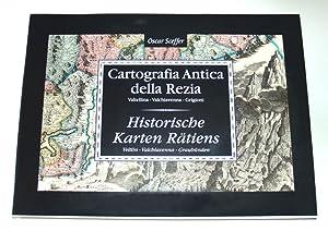 Cartografia antica della Rezia: Valtellina, Valchiavenna - Grigioni: Sceffer Oscar