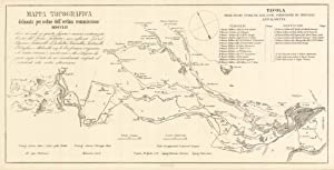 Mappa Topografica delineata per ordine dell'Eccma commissione.: Penuti Lit.