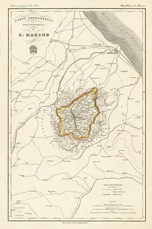 Carta Topografica della Repubblica di S.Marino: Vallardi Francesco edit.