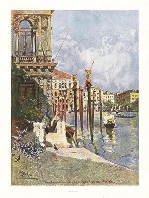 Canal grande ed angolo del Palazzo Rezzonico. Venezia: Ferrario Carlo