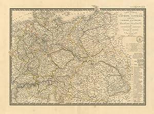 Carte Générale de l'Europe Centrale .: Brué Adrien Hubert, 1786-1832