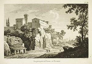 Vue prise près de Sienne Toscana: Bourgeois Constant dis. & Perdoux sculp.