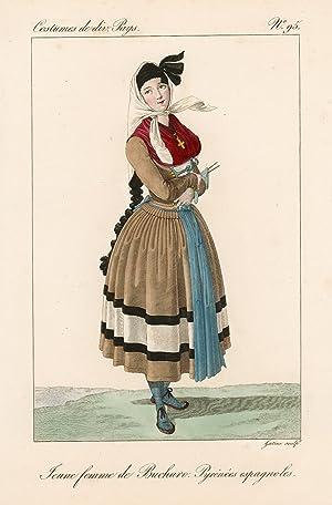 Jeune femme de Bucharo. Pirénées espagnoles: Lanté Louis Marie
