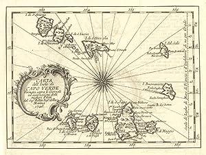 Carta dell'Isole di Capo Verde .: Bellin M.