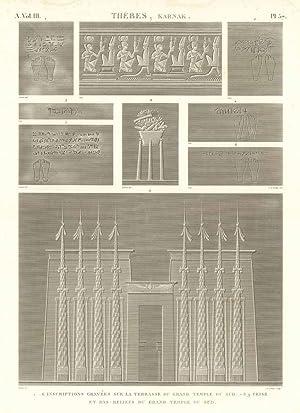 Thèbes. Karnak - Inscriptions gravée sur la: Panckoucke C.L.F. edit.