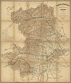 Carta stradale della provincia di Torino: Crespi Carlo edit.