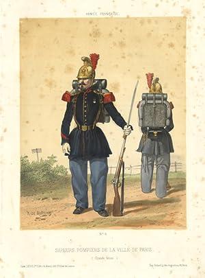 Sapeurs Pompiers de la Ville de Paris (Grande tenue.): De Moraine dis. - Ledot edit & Godard imp.