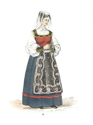 Costume di Salerno (senza titolo): Gorlich G. G. edit & Aldo Fornoni lit.