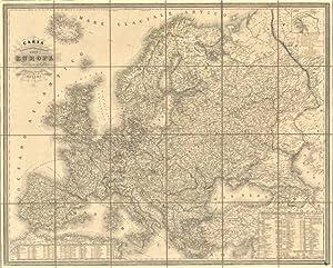 Carta fisica politica e stradale dell'Europa pubblicata Antonio Vallardi: Naymiller F. dis. ...