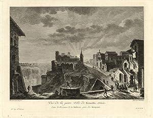 Vue de la petite Ville de Bernaldo: Saint - Non