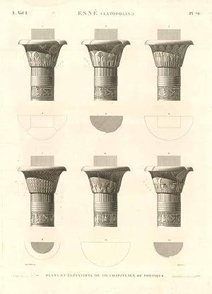 Esnè (Latopolis) - Plans et élévations de: Panckoucke C.L.F. edit.