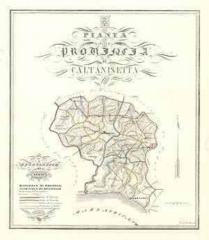 Pianta della Provincia di Caltanissetta: De Sanctis Gabriello
