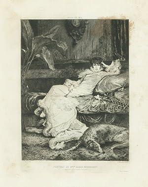 Salon de 1876 - Portrait de M.elle: Clarin dis. -