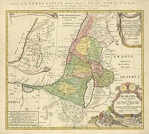 Carte de la Terre Sainte divisée selon les douze tribus d'Israel: Haremberg dis. & ...