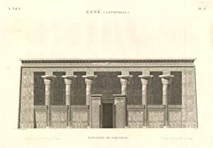 Esnè (Latopolis) - Elèvation du portique: Panckoucke C.L.F. edit.
