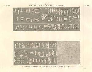 Environs d'Esné (Latopolis) - Zodiaque sculptè au: Panckoucke C.L.F. edit.